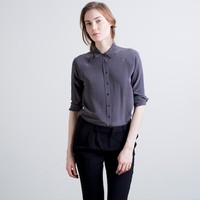 Silk Blouse - Point Collar