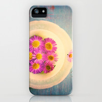 Spring Flowers on Vintage Table iPhone & iPod Case by Olivia Joy StClaire