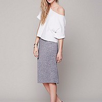 Lost in the Dots Pencil Skirt