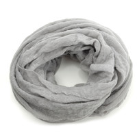 grey cashmere tube scarf by botto giuseppe