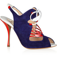 Nicholas Kirkwood Suede and patent-leather sandals – 63% at THE OUTNET.COM