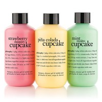 cake me to paradise | shampoo, shower gel & bubble bath set | philosophy bath & shower gels