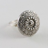 Chrysanthemum Ring by SusansJewelryDesigns on Etsy