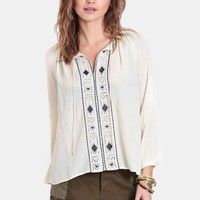 Pioneer Peak Embroidered Blouse