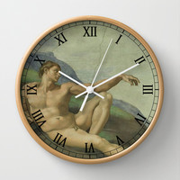 Sistine Chapel - Creation of Man Wall Clock by BeautifulHomes