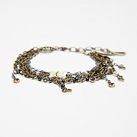 Free People Engraved Disc Layered Bracelet