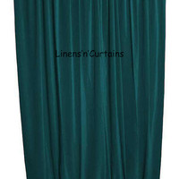 New PEACOCK GREEN Velvet Curtains Backstage Curtains - Background Curtains - THEATER Stage Curtains- Home Window, Studio Custom Made Panel