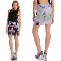 We Are DR |   Dion Lee Rorscharch  Print Skirt