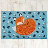 Rusty the Fox Door Mat - Urban Outfitters
