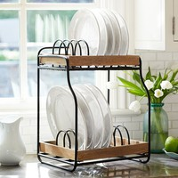 Vintage Blacksmith Double Dish Rack