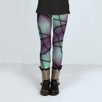 Futuristic Space Geometric Pattern by Daniel Ferreira-Leites (Leggings)