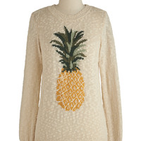 Pineapple of My Eye Sweater | Mod Retro Vintage Sweaters | ModCloth.com