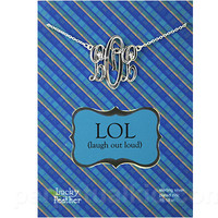 LOL MONOGRAM NECKLACE