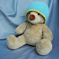 Crochet Hat Beanie for Kids Aqua Blue