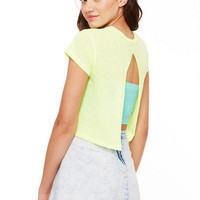 Split Back Short-Sleeve