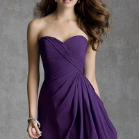 Short Strapless Dress by Mori Lee