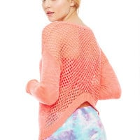 Open Stitch Lo-Hi Sweater