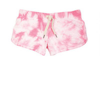 Tie-Dye Lounge Shorts in Pink