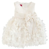 Princess Faith Infant Girl Satin Dress with Mesh Flowers at Von Maur