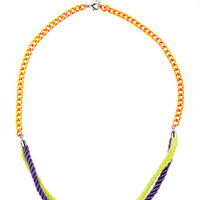 Neon Infinity Knot Necklace