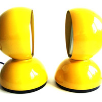 Artemide Eclisse table lamp by Vico Magistretti, set of two yellow » Craftori