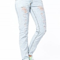 HARLOW JEGGING DESTRUCTED PREMIUM JEANS