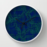 Re-Created SquaresXXVIII  Wall Clock by Robert S. Lee