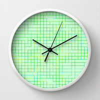 Re-Created SquaresXXVI  Wall Clock by Robert S. Lee