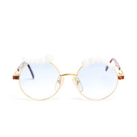 MOO | Round Sunglasses with Porcelain Eyebrows | Browns fashion & designer clothes & clothing