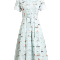 OLYMPIA LE-TAN | Ship Printed Cotton Dress | Browns fashion & designer clothes & clothing