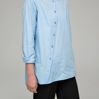 Shirt with asymmetric front