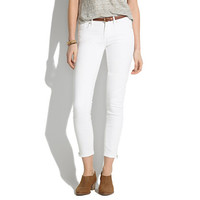 SKINNY SKINNY CROP ZIP JEANS IN PURE WHITE