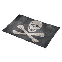 Pirate Skull and Crossbones Flag Table Placemat