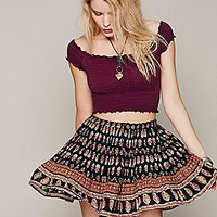 Free People Womens Smocked Crop Top -