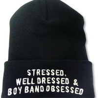 boy band obsessed Beanie - Default Title