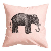 H&M - Cotton Cushion Cover - Light pink