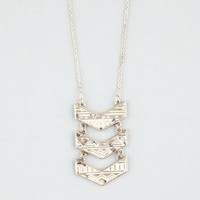 FULL TIILT 3 Tier Ivory Patina Arrow Necklace