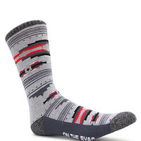 On The Byas Native Tribal Crew Socks - Mens Socks - Grey/Red - One