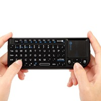 iClever IC-RF01 2.4G Ultra Mini Wireless Keyboard with Mouse Touchpad