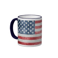 Grunge American USA Flag Coffee Mug