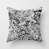 Inky \\ Throw Pillow by DuckyB (Brandi)