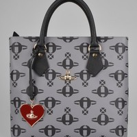 Vivienne Westwood All Over Orb Tote Bag 13399 - Grey
