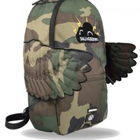 Sprayground Black Pyramid CB Camo Wings Backpack