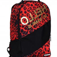 Sprayground Hello Leopard Deluxe Backpack