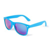 Rubber Mirrored Wayfarer Sunglasses | Claire's