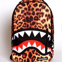 Sprayground Shark Deluxe Backpack - Leopard