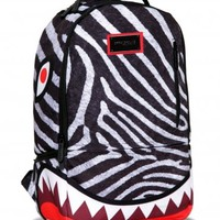 Sprayground Zebra Shark Deluxe Backpack/ Bag
