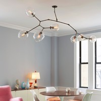 The Future Perfect - Branching Series, 6-Bubble Chandelier Version II - Lighting