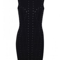Black Studded Detail Bodycon Dress