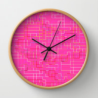 Re-Created SquaresXXIX  Wall Clock by Robert S. Lee